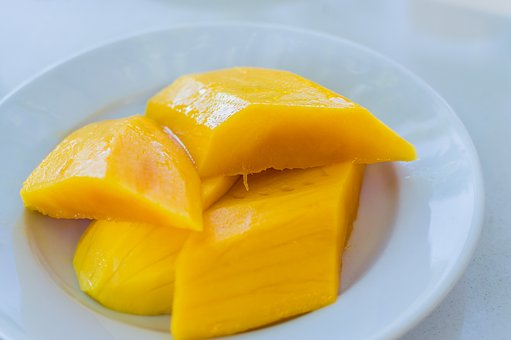 Mango, Fruit, Background, Food, Yellow