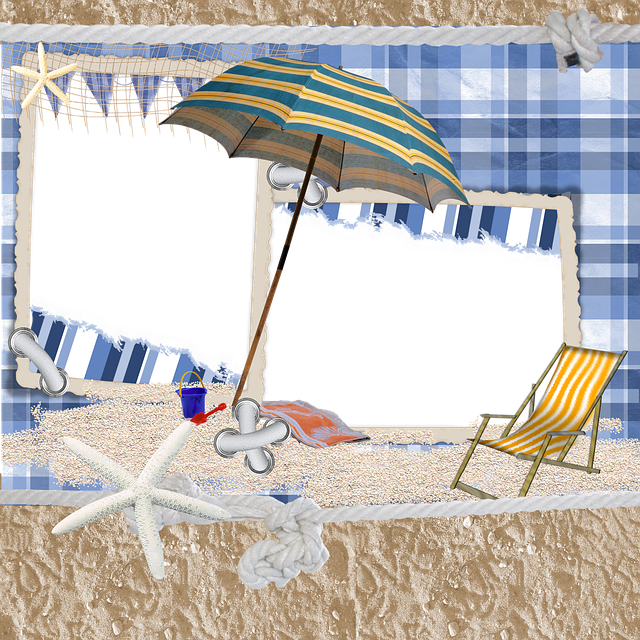 beach scrapbook background  image  pixabay