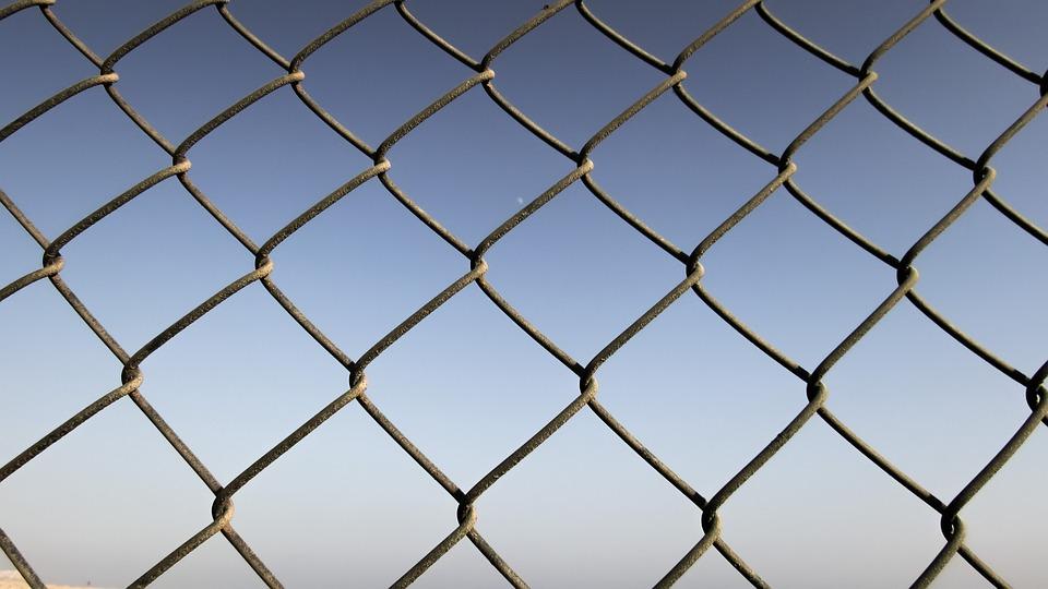 フェンス, バリア, 金属, ブロック, プライバシー, 別, 境界を定めます, 制限
