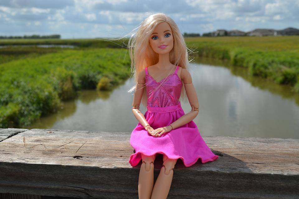 Free Photo Barbie Doll Blonde Toy Sitting Free