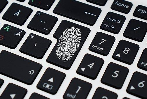 Dados, segurança, teclado, computador