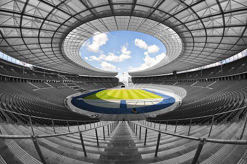 Olympic Stadium Berlin 1936 Symmetrical In