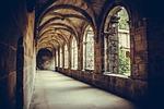 cloister, columns, monastery