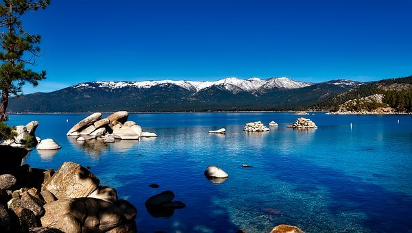 Lake Tahoe, California, Mountain, Forest