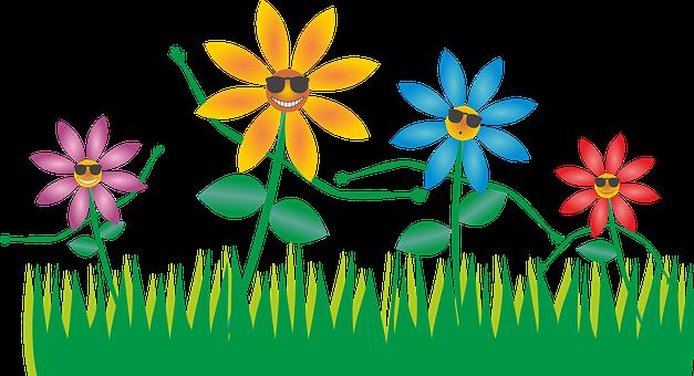 Blumen, Blüten, Wiese, Cool, Tanzen