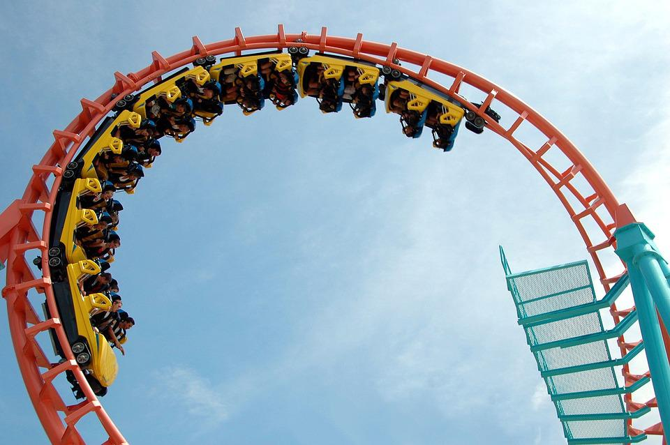 Roller Coaster, Jazda, Zabawa, Rozrywka, Rolki, Coaster
