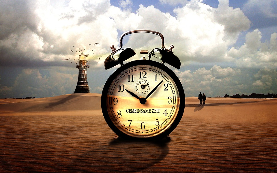 Free Illustration Clock Time Holidays Sand Free
