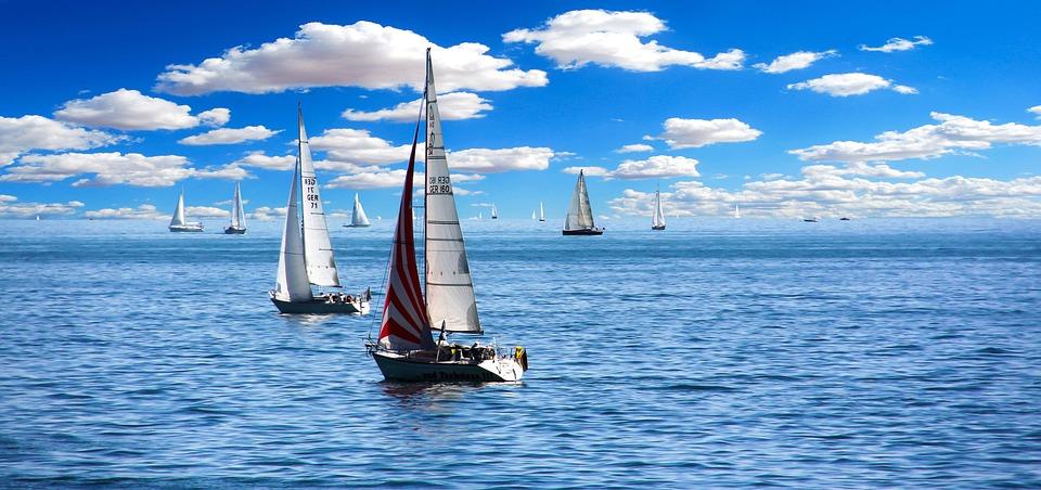 Segelbåt, Segel, Bodensjön, Båt, Havet, Fritid, Idrott
