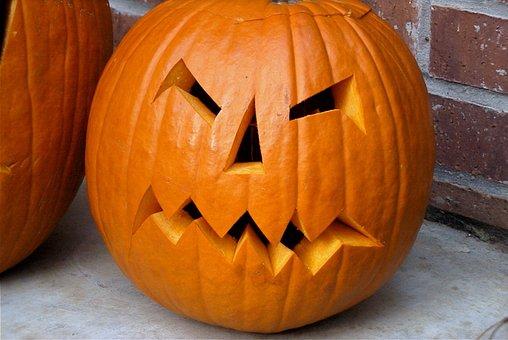 ハロウィーン, カボチャ, 怖い, 10月, 不気味な, オレンジ