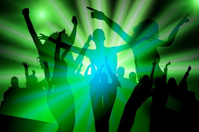Free illustration: Silhouette, Girl, Dance, Party - Free ...
