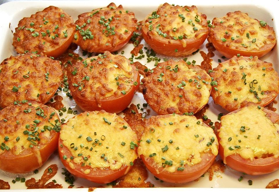 Pomodori, Gratin, Formaggio, Mozzarella, Forno