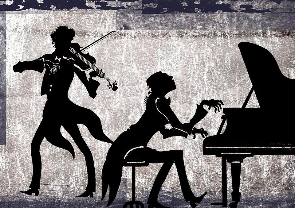 Free Illustration Classical Collage Violin Piano