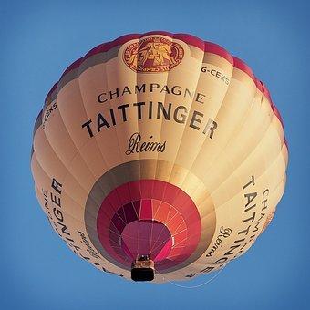 Balloon, Hot, Air, Tattinger, Champagne