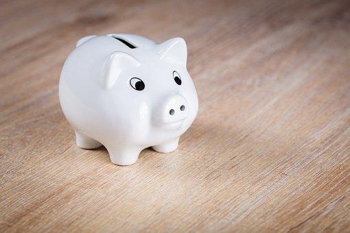 貯金箱, 保存し, ピグレット, 控えめに, セラミック, 金融, 豚, ユーロ