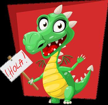 Dragon, Vert, Hola, Inscrivez Vous