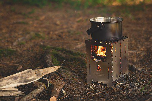 Fireplace Fire Bushbox Camping Burn Flame