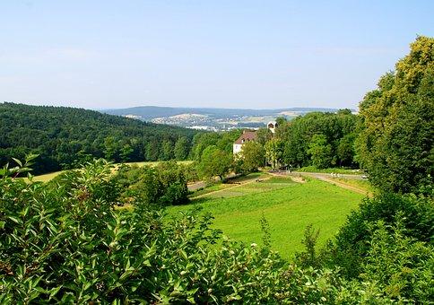 Wald, Eifel, Wiese, Landschaft, Grün, Camping Waxweiler