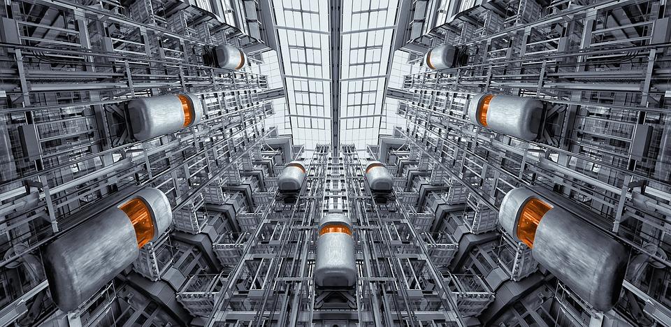 エレベーター, ベルリン, ルードビッヒエルハルトハウス, アーキテクチャ, インテリア, リフト, 未来的