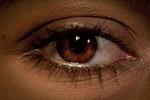 oko, gałki ocznej, z bliska