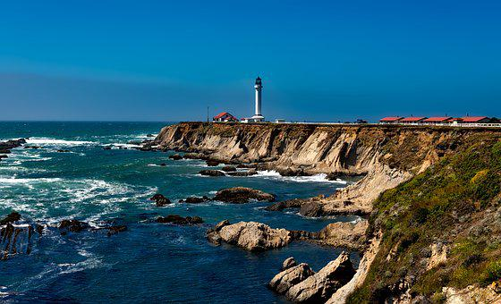 Point Arena Lighthouse, Light, Pacific Ocean, California