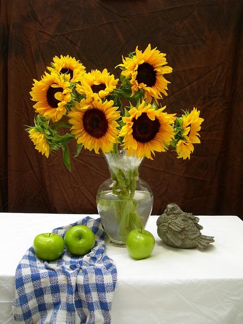 Sunflowers Apples Still Life · Free photo on Pixabay