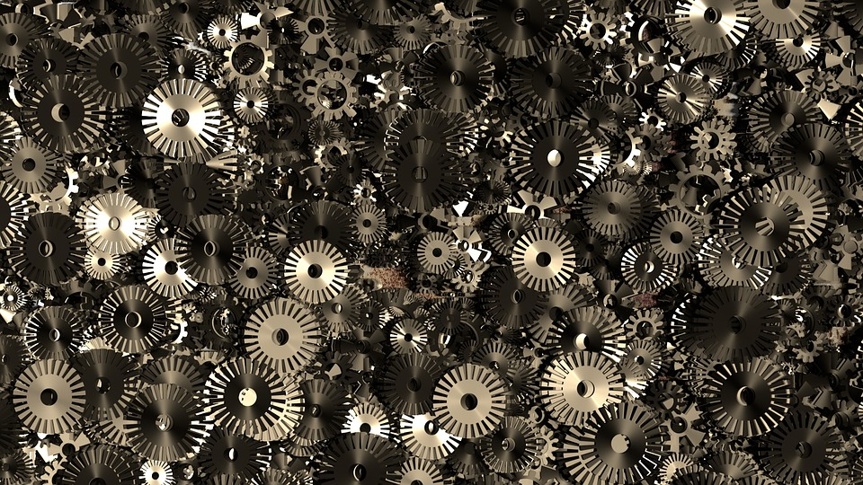 Free Illustration Gears Texture Mechanical Engine