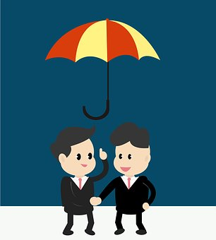 Umbrella Businessman Corporate Business Pe