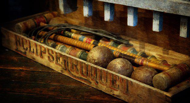 Antique, Croquet, Vintage, Game, Wooden