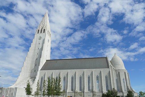 2018年5月1日発 日本語ガイドと廻るアイスランドの名所 氷の洞窟・ブルーラグーン・黄金の滝・ゲイシール地熱帯4日間名古屋グラージュまでレイキャビク, 教会, ハットルグリムス, 興味の場所, アーキテクチャ