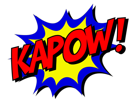Kapow Comic Comic Book Fight Explosion Exp