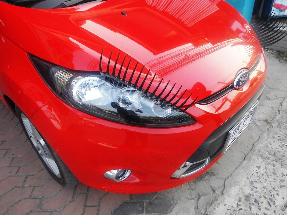 Eyelashes Auto Pkw Free Photo On Pixabay