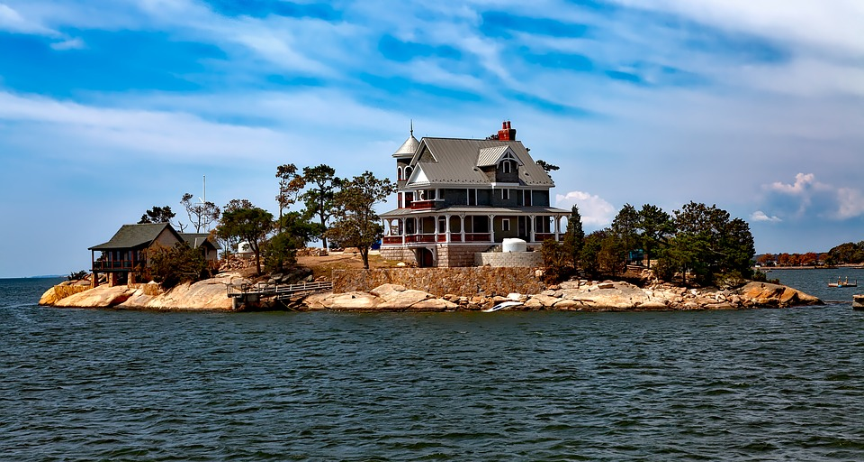 Free Photo: Thimble Islands, Island, House