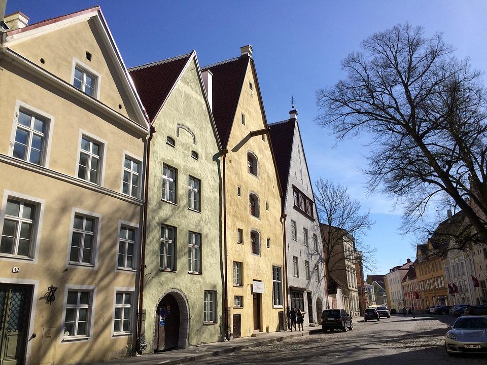 Europa Tallinn Architektur Zuhause Straße