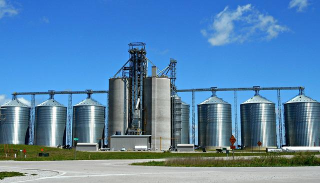 free photo silos grain storage industry free image