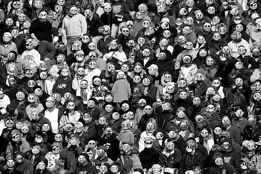 人間, スマイリー, 絵文字, マスク, 多様性, 異なる, 笑う, 泣く