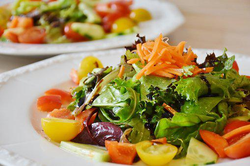 サラダ, 新鮮, 食品, ダイエット, 健康, 食事, 減量, ベジタリアン