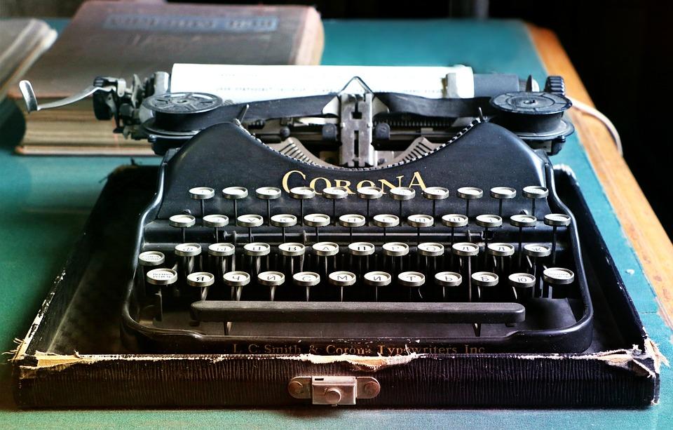 Kirjoituskone, Kirjaimet, Antiikki, Kirjailija, Vanha