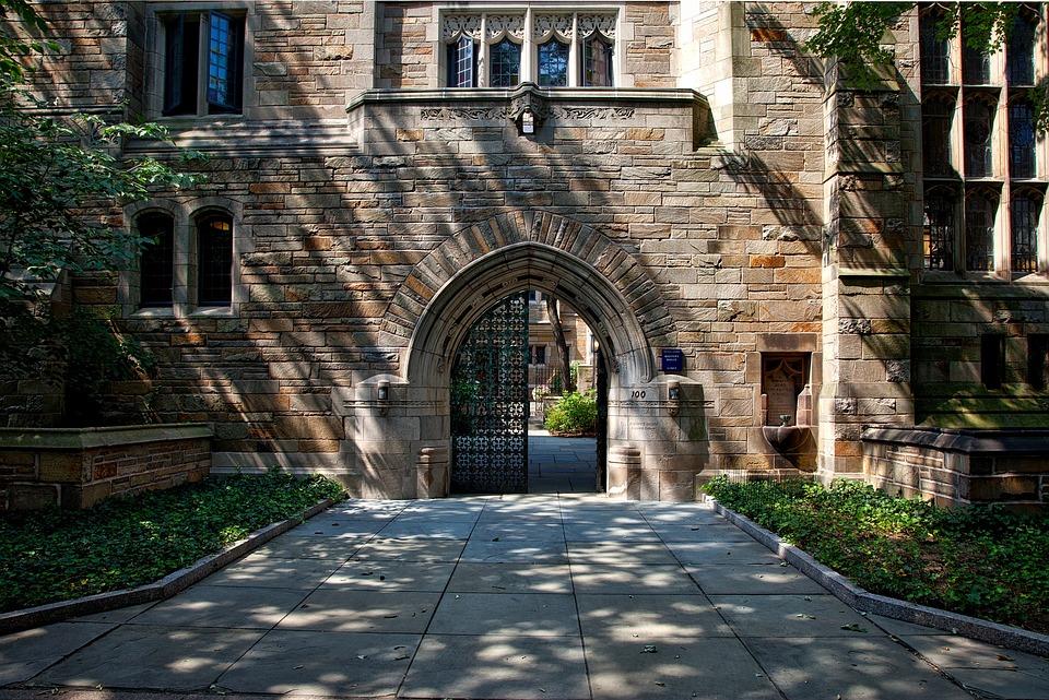 エール大学, 風景, 大学, 学校, カレッジ, キャンパス, 教育, アイビー リーグ, 建物