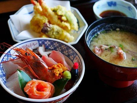 和食, 日本食, 刺身, 海鮮, シーフード, 天ぷら, 味噌汁, 日本, 和風