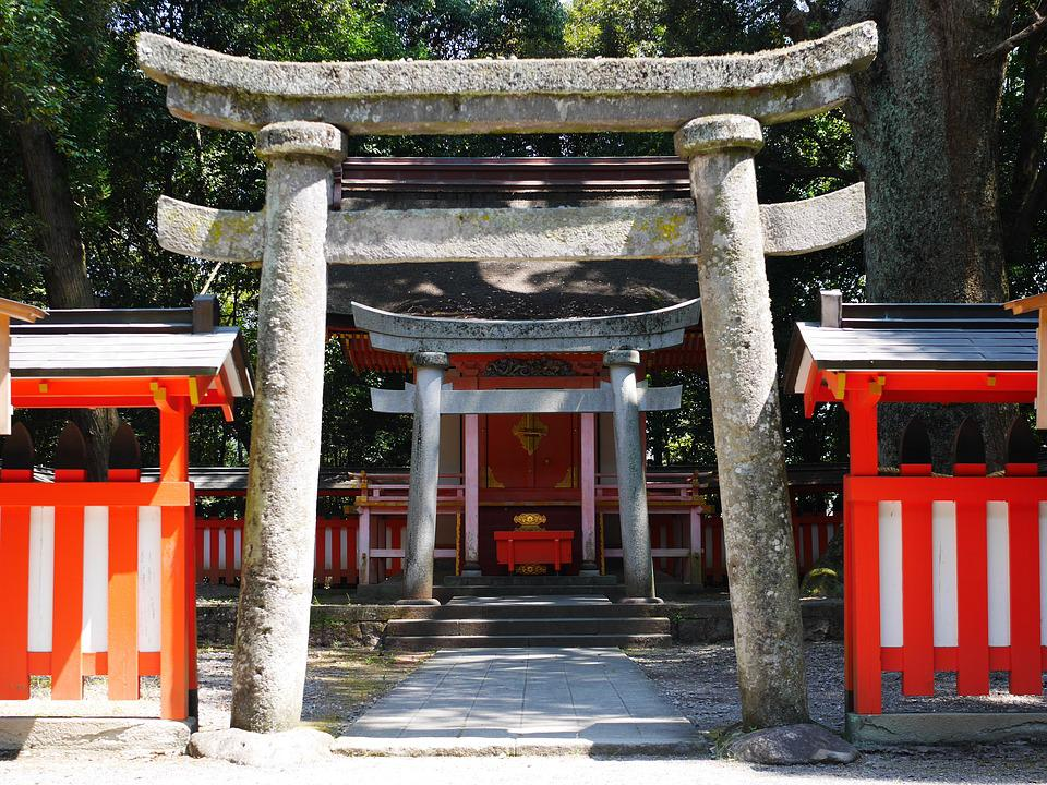 Shrine, Torii, Japan, Shinto, Japanese Style, K