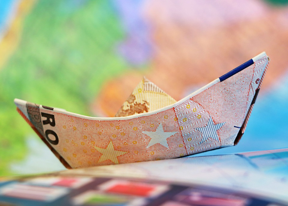 Евро, Кораб, Money, Платноходите, Оригами, Карта