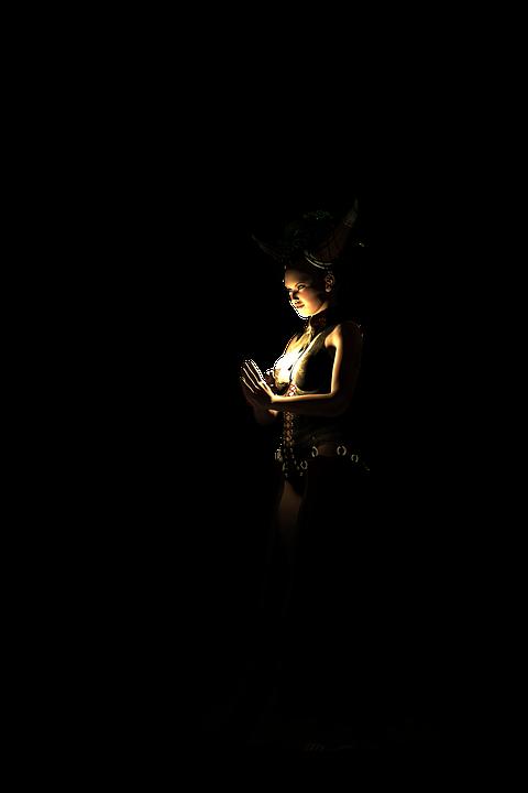 free illustration priestess fantasy woman pray free