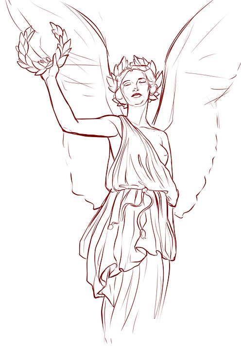 Angel Face Line Drawing : Free illustration angel wings greek statue