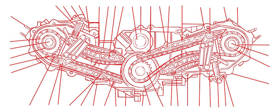 Engine Schematic Drawing · Free image on Pixabay