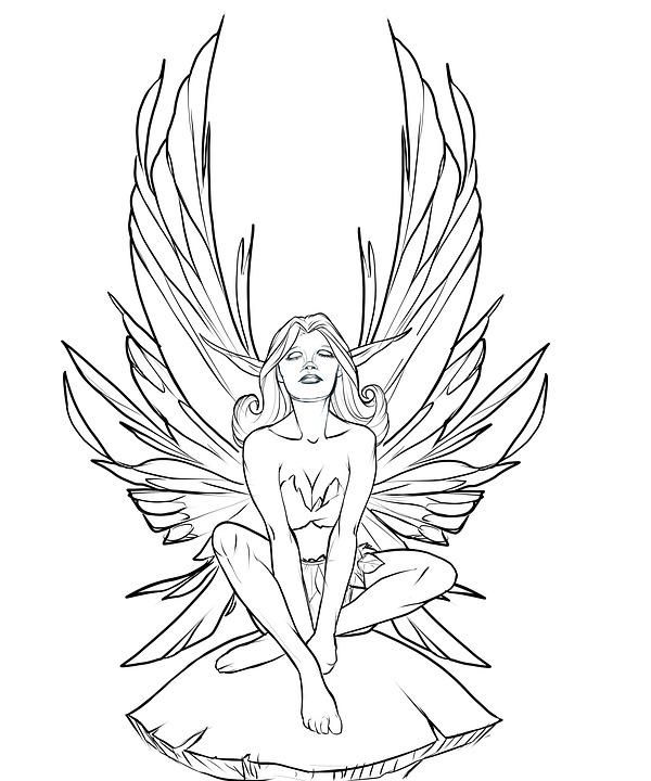 Illustration gratuite f e f erie champignon dessin image gratuite sur pixabay 1606164 - Dessin de fee ...