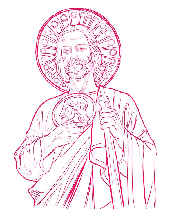 Drawing Of Saint Jude Bing Images St Jude Coloring Page