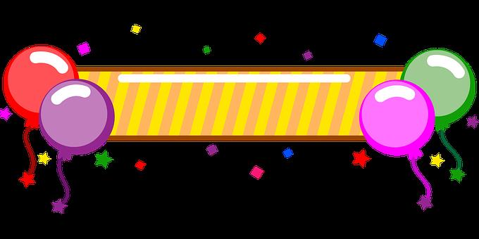 Transparent, Strona, Balony, Urodziny