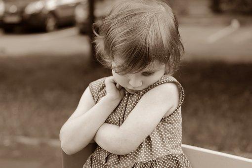 Bebé, Chica, Tímido, Emociones
