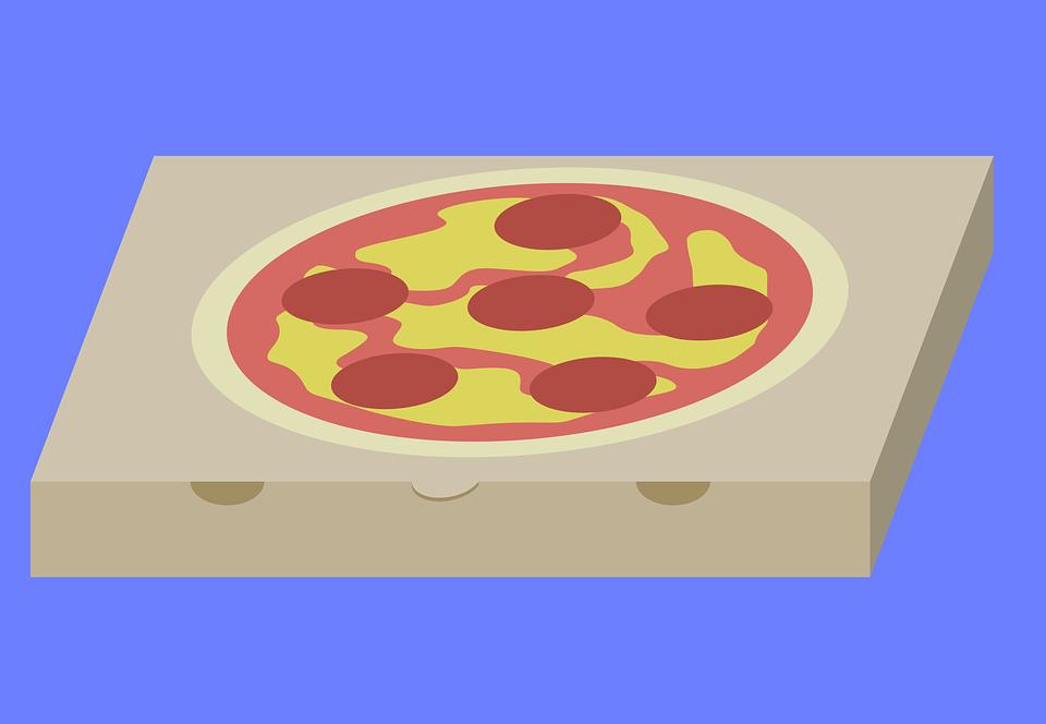 Pizza, Pizza Carton, Box, Pizza Box, Eat, Order
