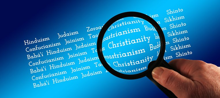 Mão, Lupa, Religiões, Religiões Do Mundo